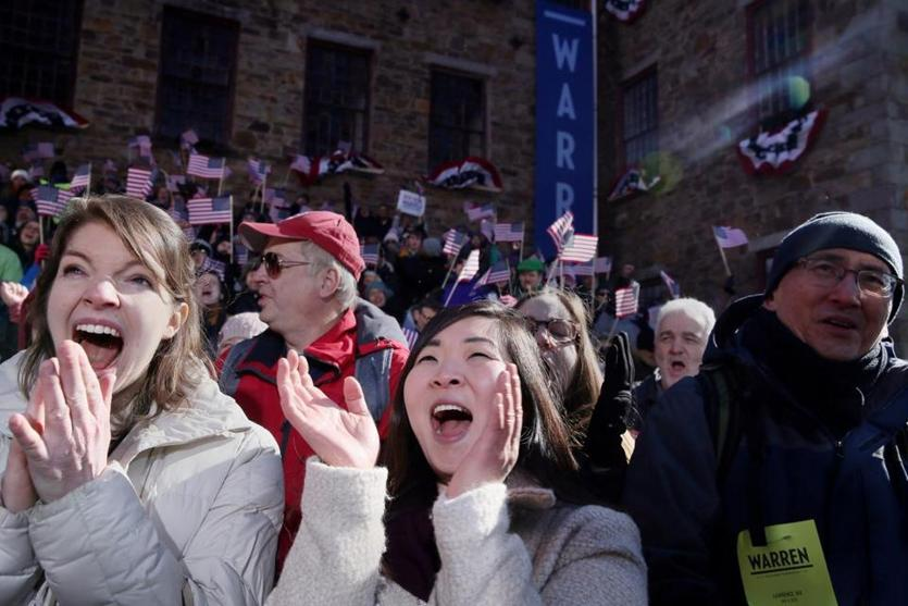 Leah Rapperport and Janet Cho attended Warren's kick-off.