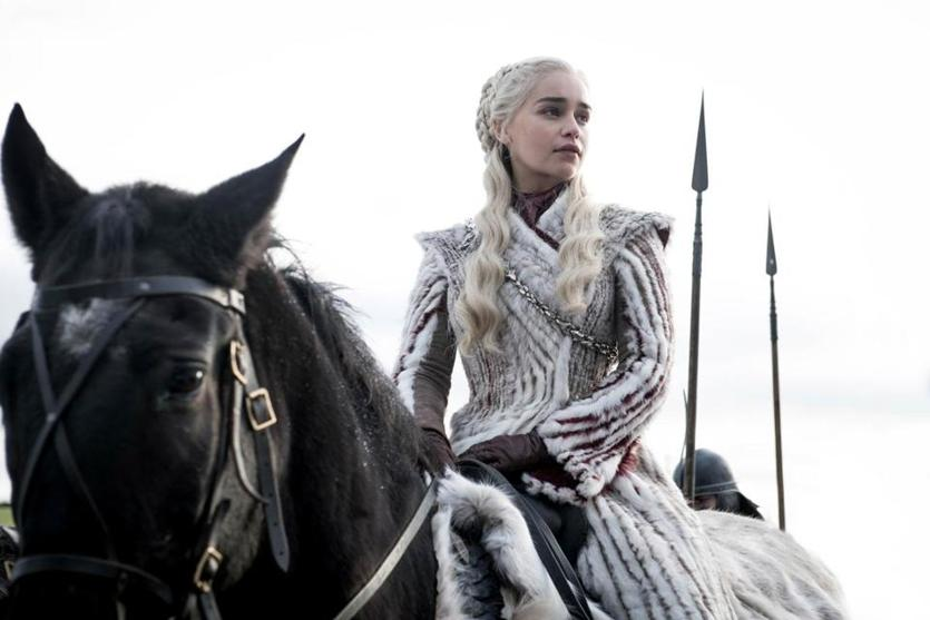 "Emilia Clarke as Daenerys Targaryen in the final season of HBO's ""Game of Thrones."" MUST CREDIT: Helen Sloane, HBO"