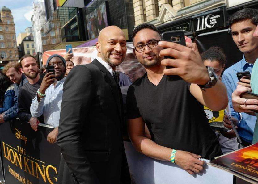 "LONDON, ENGLAND - JULY 14: Keegan-Michael Key attends the European Premiere of Disney's ""The Lion King"" at Odeon Luxe Leicester Square on July 14, 2019 in London, England. (Photo by Gareth Cattermole/Getty Images for Disney)"