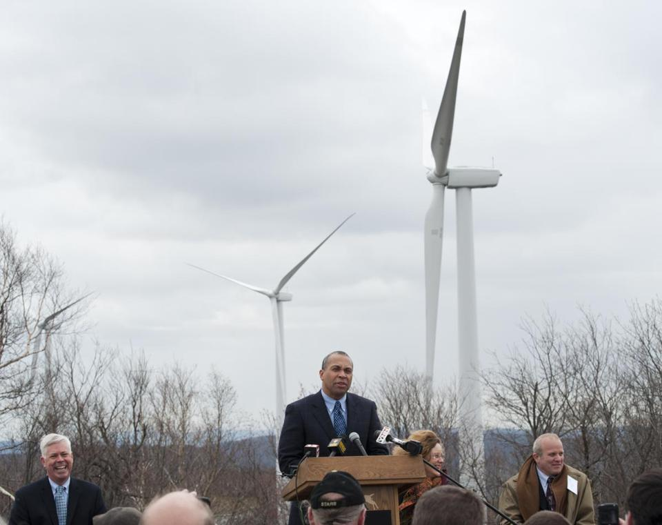 Governor Deval Patrick spoke at the dedication of the Berkshire Wind Power Project in May 2011.