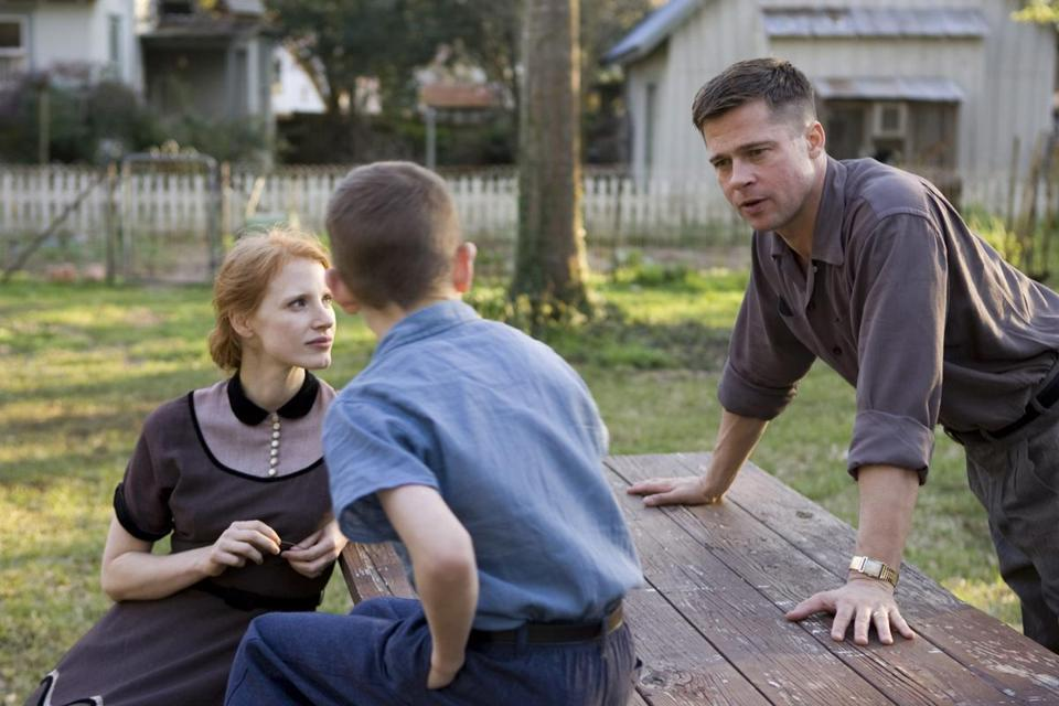 "Brad Pitt and Jessica Chastain in a scene from ""The Tree of Life."""
