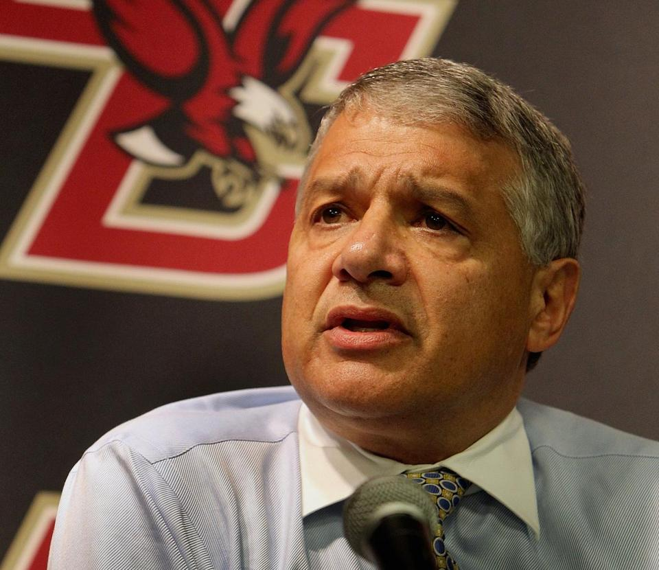 Boston College athletic director Gene DeFilippo was part of the 12-member ACC expansion committee.