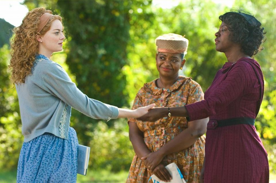 "From left: Skeeter (Emma Stone), Minny (Octavia Spencer), and Aibileen (Viola Davis) in ""The Help.''"