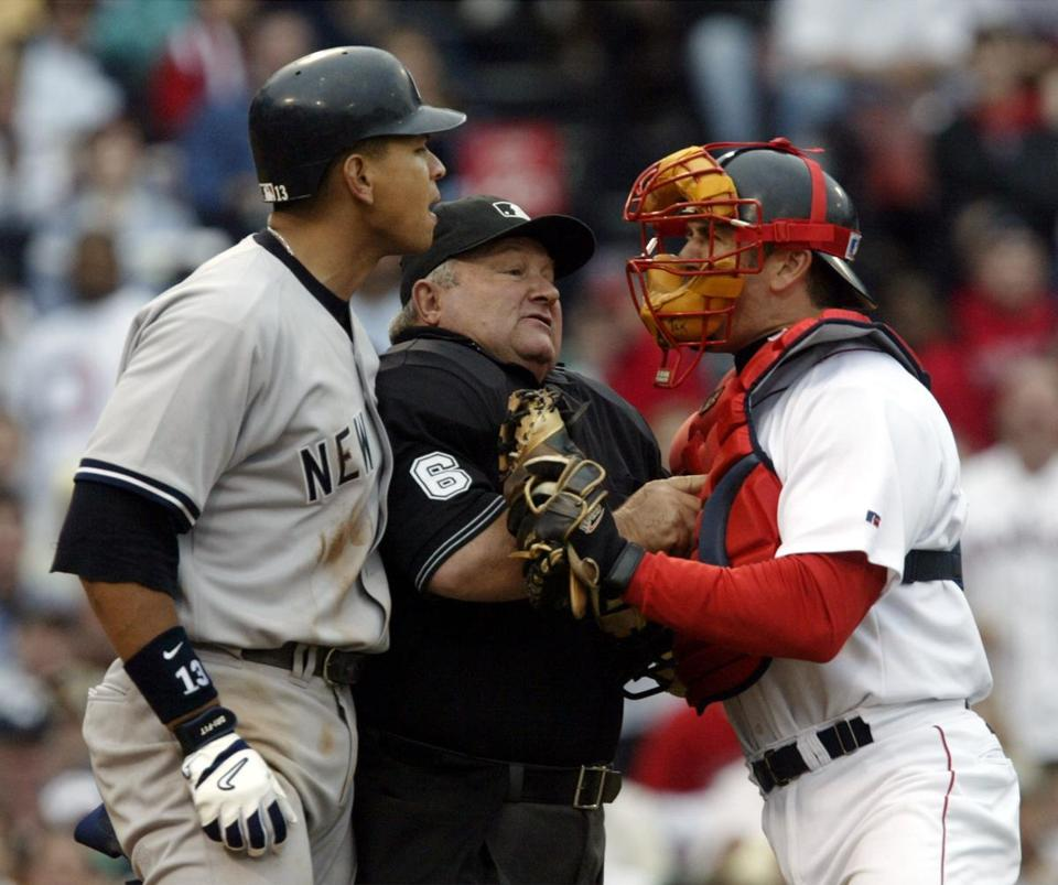 Jason Varitek's move to hit Alex Rodriguez in a July game against the Yankees was a catalyst for the Red Sox' season-long resistance to being pushed around by their New York rivals.