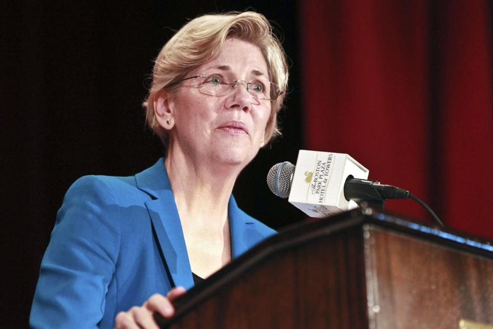 Senate candidate Elizabeth Warren spoke at a Boston event last year.