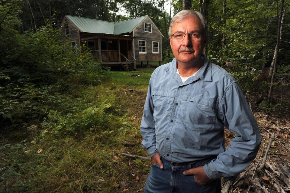 "Boston University professor Lou Ureneck is publishing a Thoreau-like book called ""Cabin."" It is about his experiences building this cabin with his brother in Stoneham, Maine."