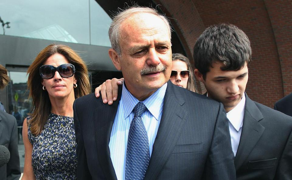 Salvatore DiMasi leaves the Moakley Federal Court after his sentencing today.