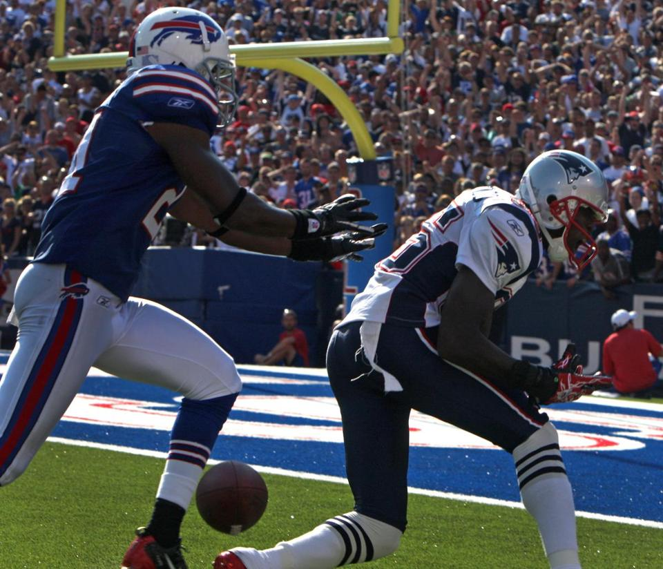 Chad Ochocinco dropped a likely touchdown against the Bills in the fourth quarter.