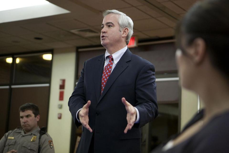 Michael Flaherty, spoke at a Dorchester Heights Association meeting in South Boston Oct. 11, 2011, then on a failed bid to return to the Boston City Council.