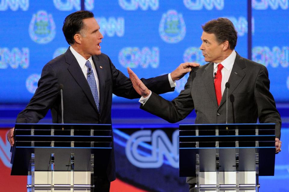 Mitt Romney and Governor Rick Perry of Texas were involved in a few heated exchanges during the debate last night.
