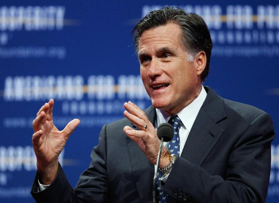 Mitt Romney spoke at the Washington Convention Center today in Washington, D.C.