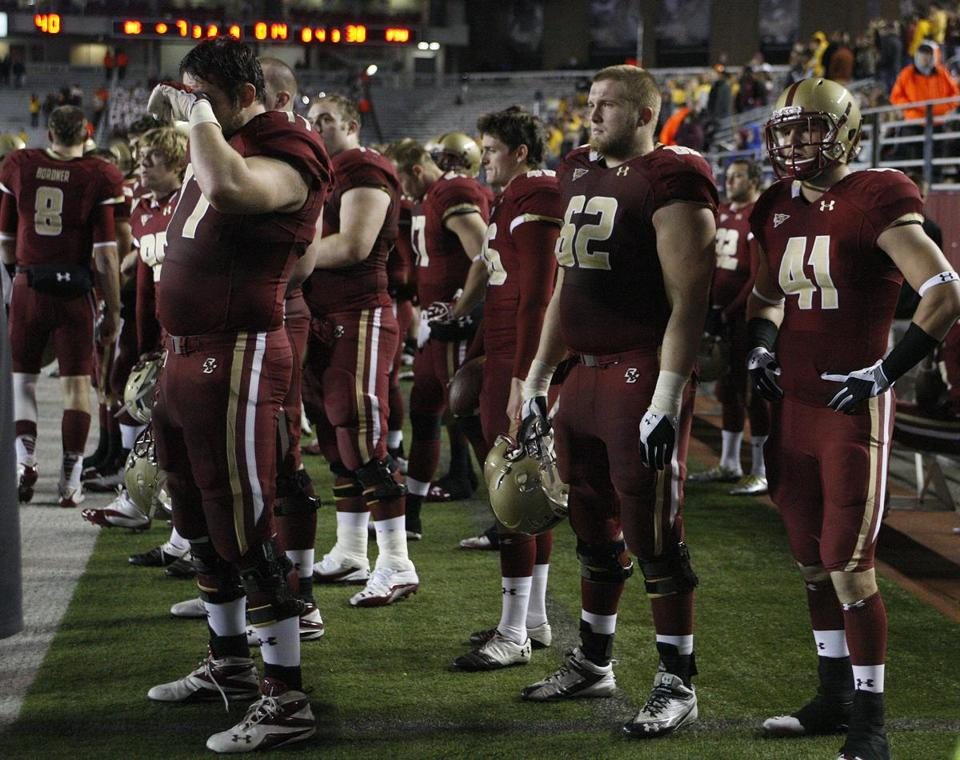BC players watched from the sidelines as time ran out on their hopes for a bowl appearance this year.