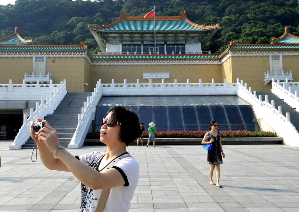 Outside the National Palace Museum in Taipei, which opened in 1965.