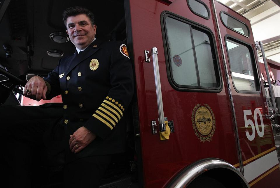 Steve E. Abraira was appointed as the chief of the Boston Fire Department today.