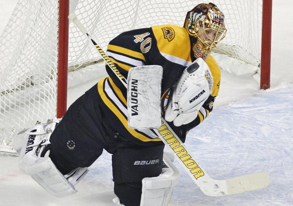 By his admission, Tuukka Rask isn't in Martin Brodeur's class when it comes to playing the puck. Neither is Tim Thomas.