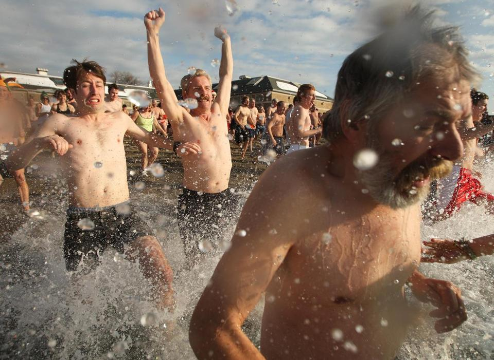 In 2011, hundreds of people took advantage of unusually mild temperatures on the first day of the year during the L Street Brownies plunge.