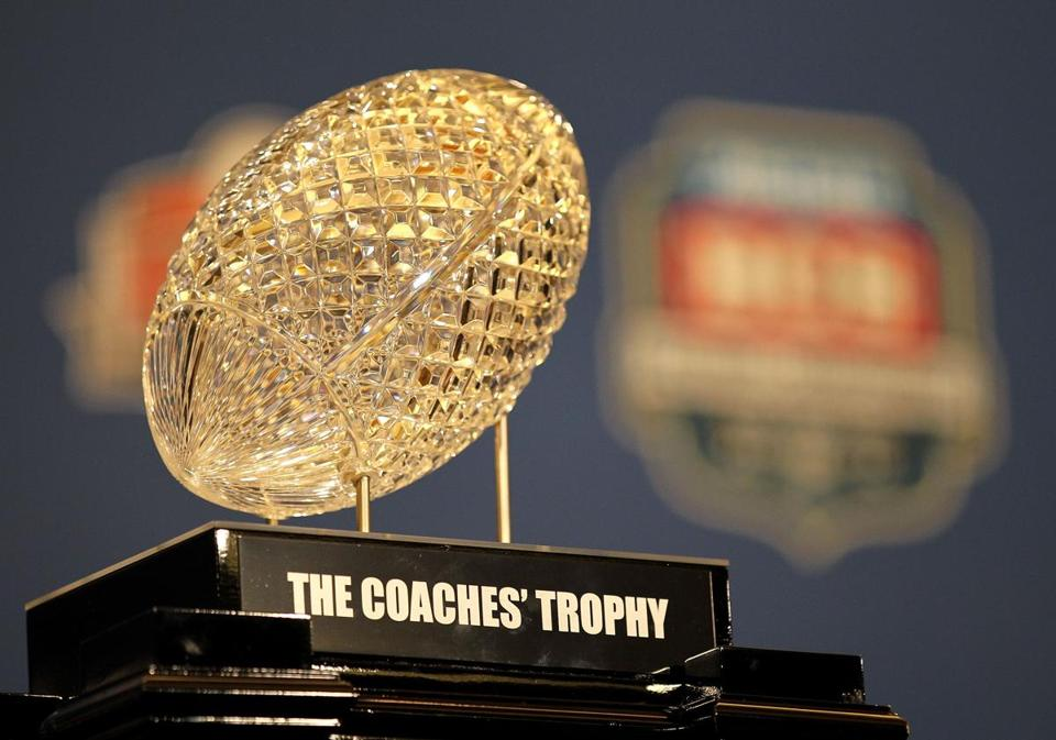 The BCS trophy may be handed out after a different process in future years.