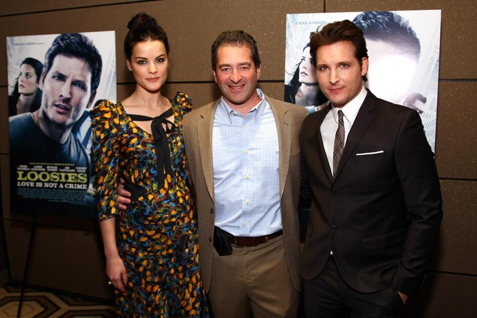 "NEW YORK, NY - JANUARY 10: (L-R) Actress Jaimie Alexander, producer Chad A. Verdi and actor Peter Facinelli attend the ""Loosies"" premiere at the Tribeca Grand Hotel on January 10, 2012 in New York City. (Photo by Neilson Barnard/Getty Images)"