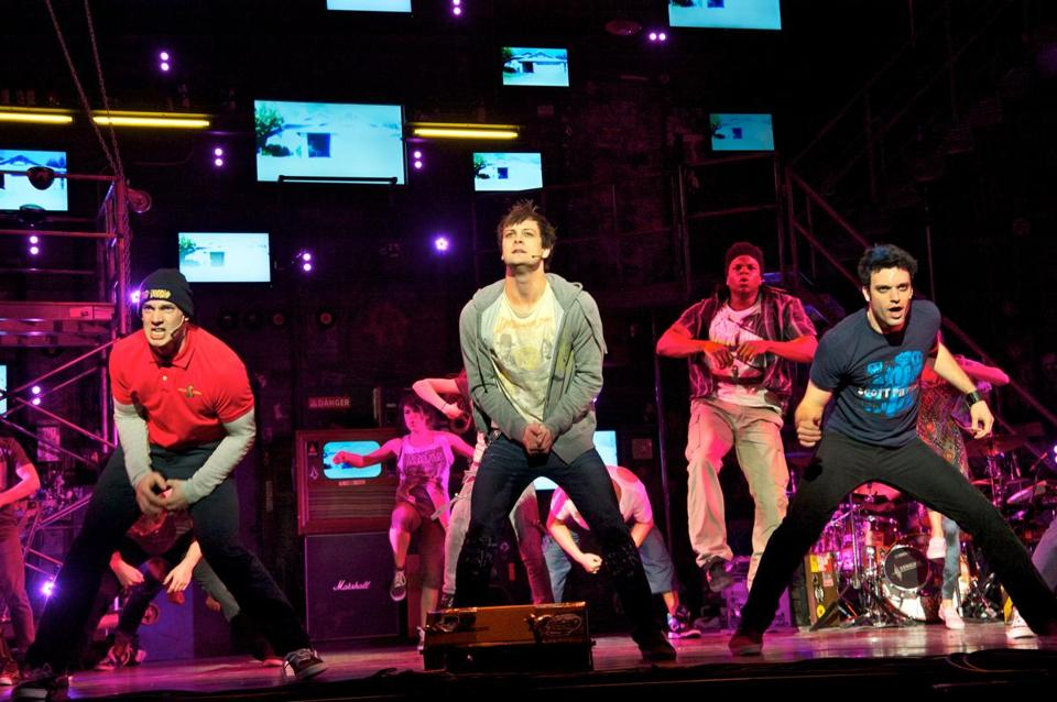 Scott J. Campbell (Tunny), Van Hughes (Johnny) and Jake Epstein (Will) in AMERICAN IDIOT (Photo by Doug Hamilton) 26idiot