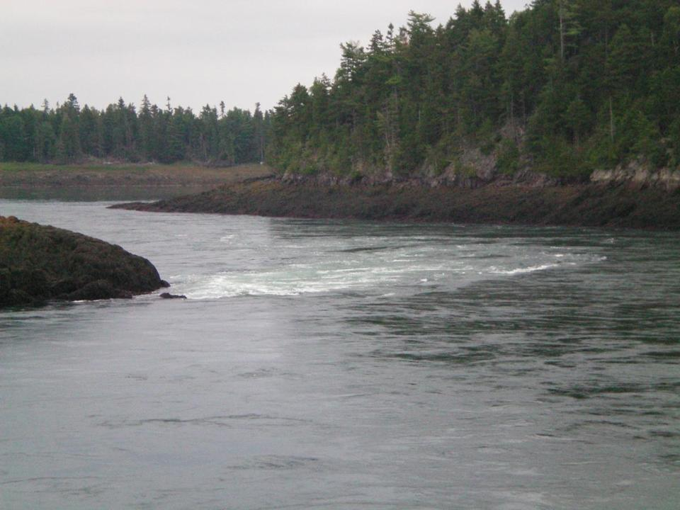 for Travel - 22pembroke - The reversing falls at Pembroke, Maine. (Maine Office of Tourism)