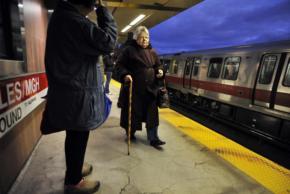 Linda Victor of Lexington suffers from balance problems but still commutes to work with the use of a cane.