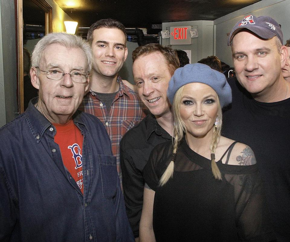 Peter Gammons, Theo Epstein, Bill Janovitz, Kay Hanley, and Mike O'Malley at the Paradise.