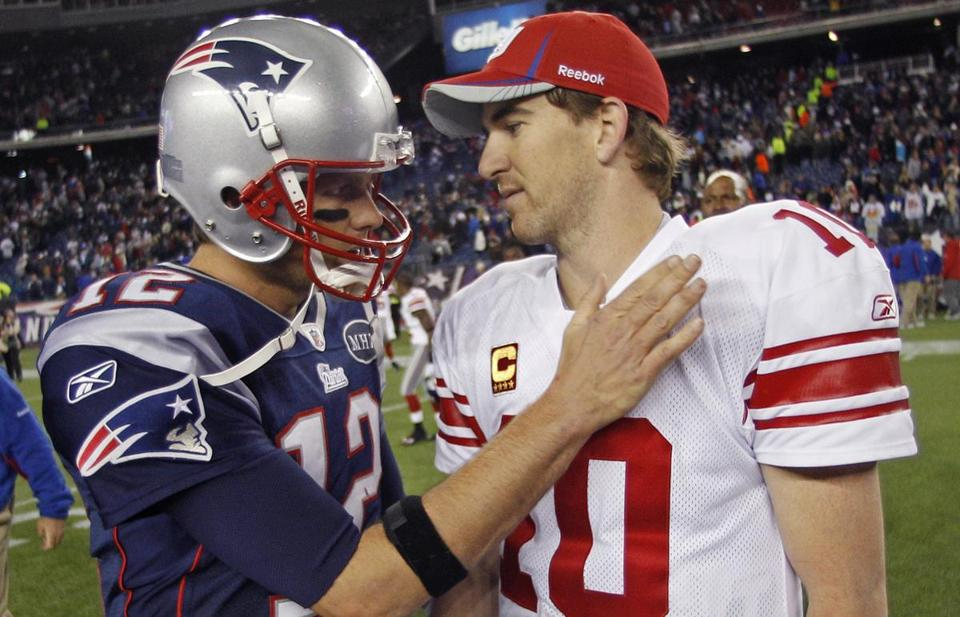 Tom Brady lost his second straight game to the Eli Manning and the Giants when the teams faced off in Foxborough in November.