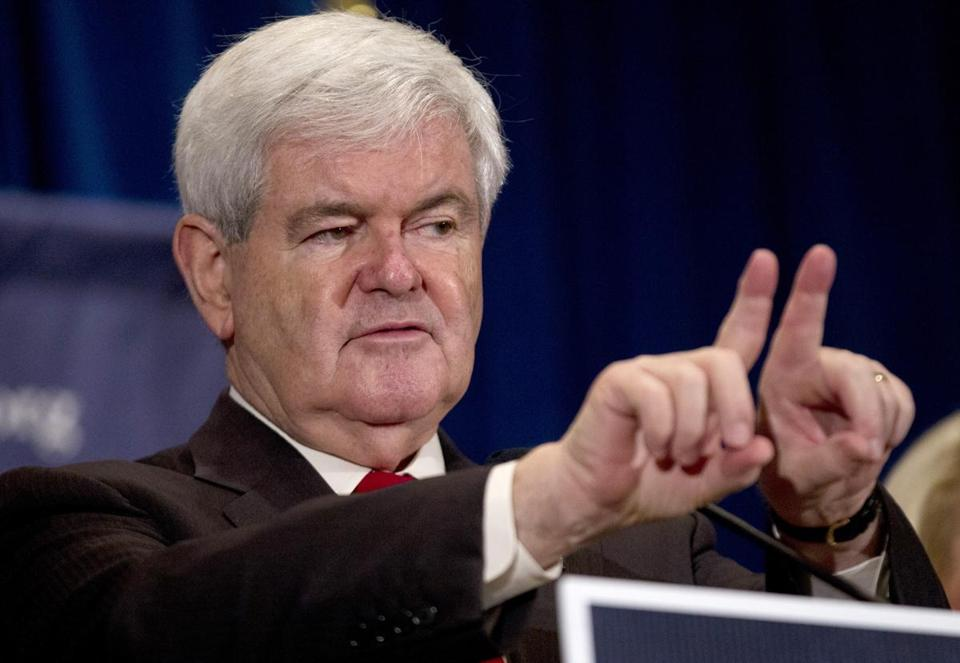 Newt Gingrich spoke at an event in Winnsboro, S.C., today.