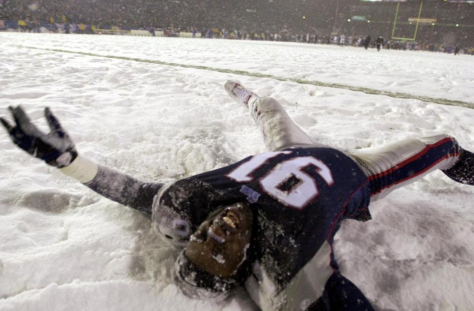 Bobby Hamilton celebrated in the snow after the winning field goal.