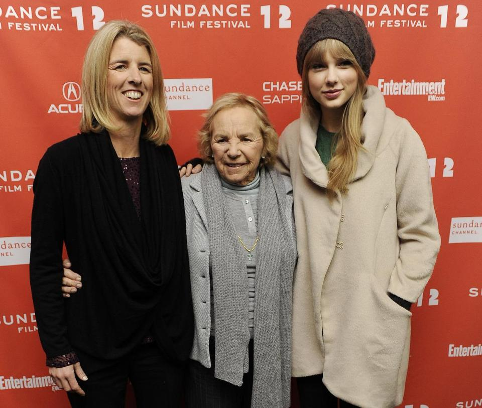 Ethel Kennedy with daughter Rory (left) and Taylor Swift at Sundance in Park City, Utah.