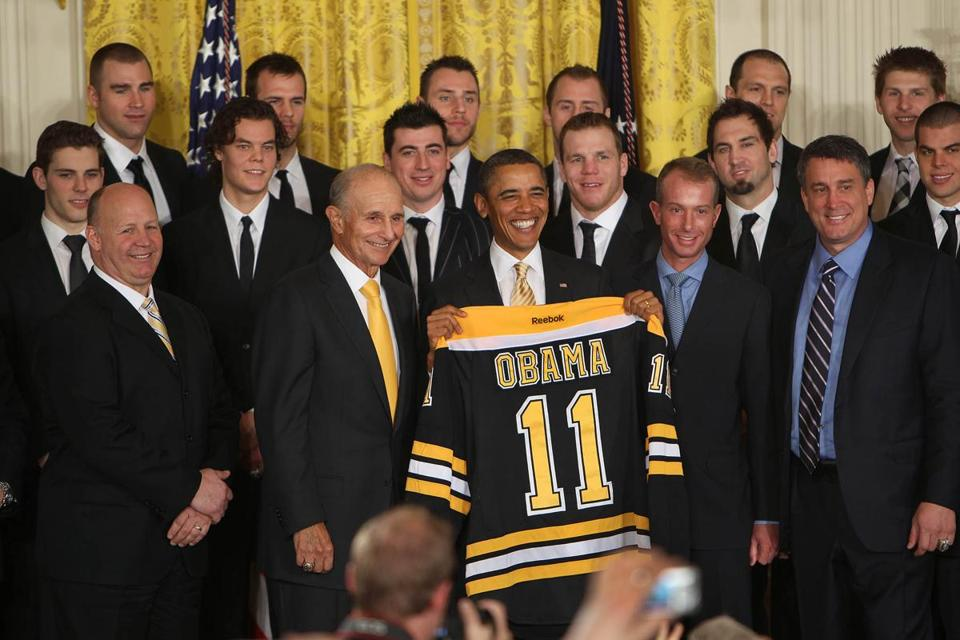 Members of the Bruins were honored by President Obama today at the White House.
