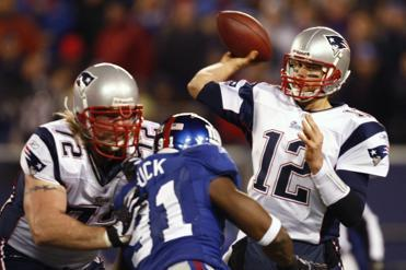 Tom Brady had a memorable night against the Giants in 2007 when he closed out the Patriots' 16-0 regular season and set the single-season record for touchdown passes with 50.