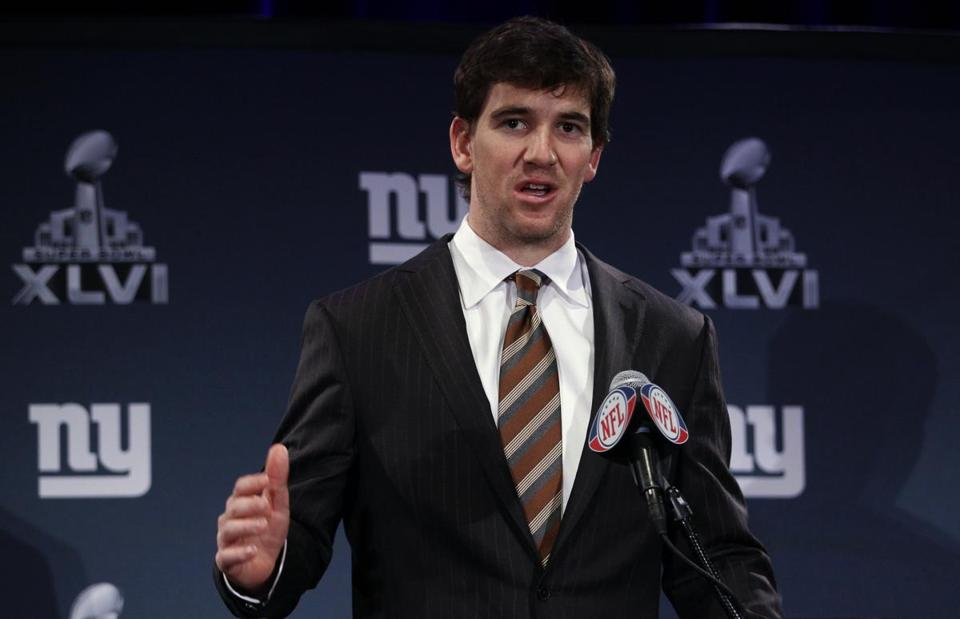 Eli Manning was all business during his press conference yesterday.