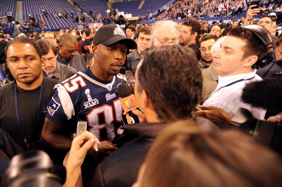 Chad Ochocinco was a popular player among reporters at Media Day.