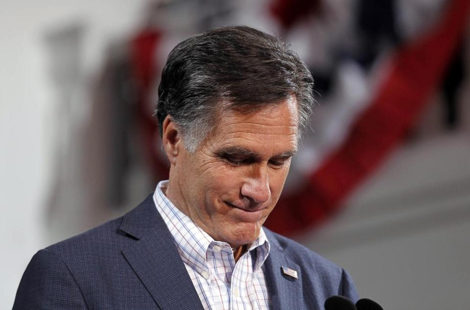Mitt Romney spoke at a rally last night in Denver.