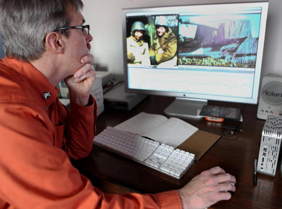 "Rick Beyer editing ""The Ghost Army"" last year. The documentary has its world premiere at Salem Film Fest."