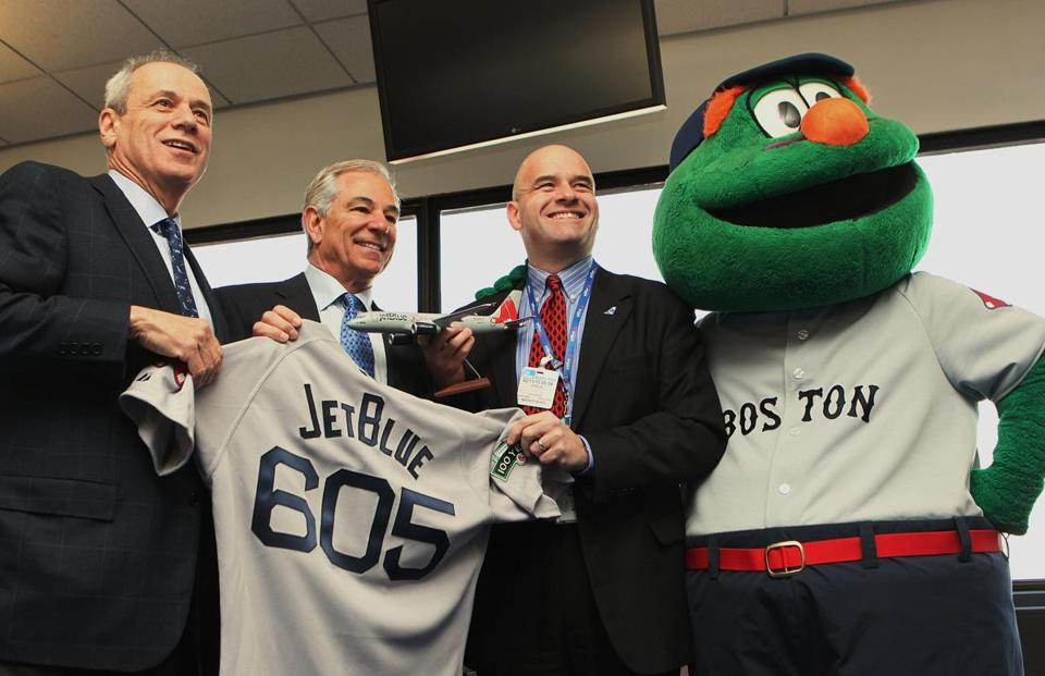 New Red Sox manager Bobby Valentine, second from left (with Red Sox Larry Lucchino, left, and JetBlue official Marty St. George, is set to run his first spring training camp with the team.
