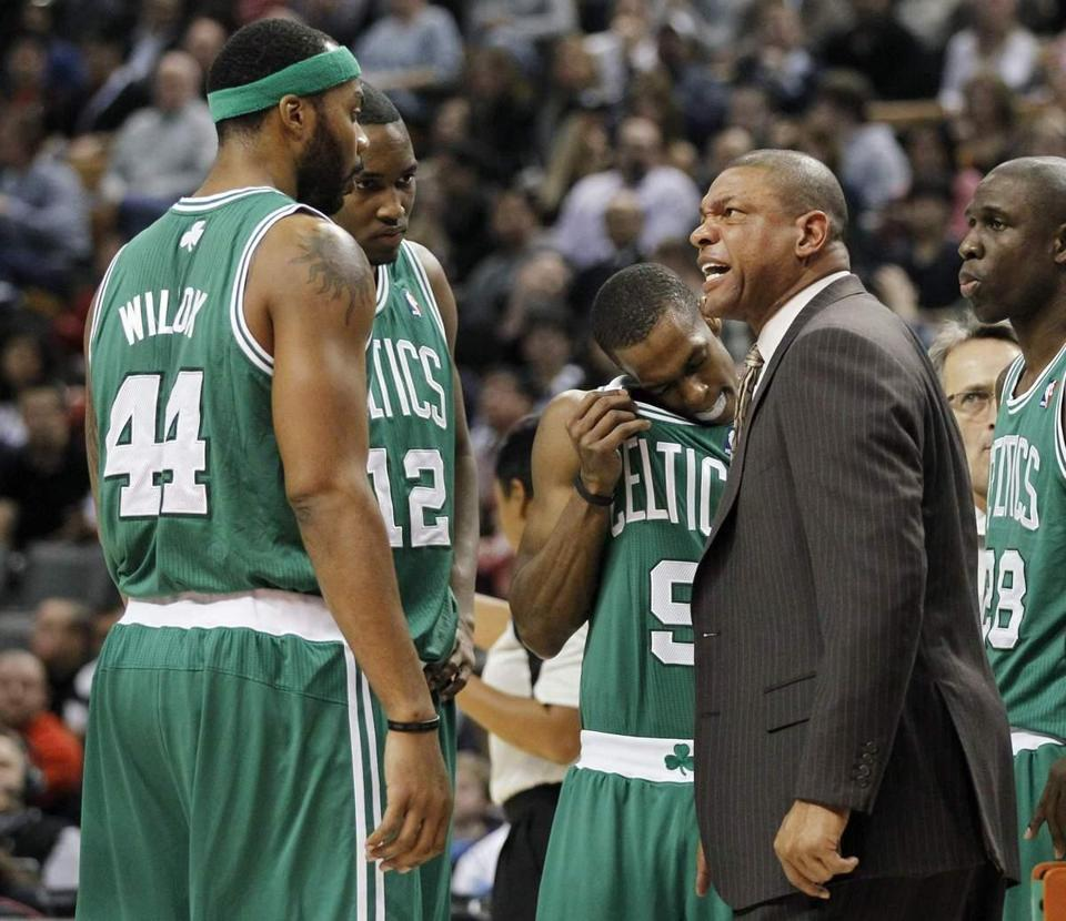 Doc Rivers and the Celtics will have to get used to life on the road.