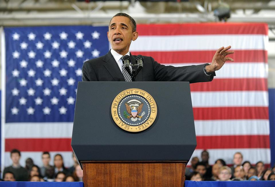 President Obama unveiled his fiscal year 2013 budget at Northern Virginia Community College in Annandale, Va., on Monday.