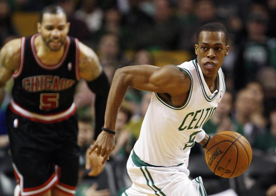 Rajon Rondo led the Celtics to a win against the Bulls yesterday.