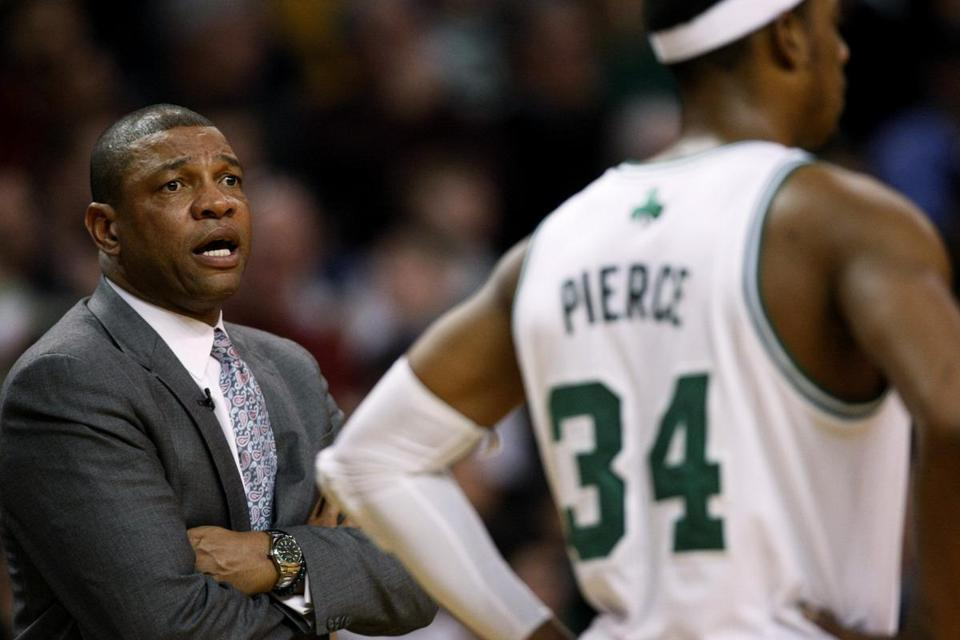 Doc Rivers and the Celtics entered today four games behind Philadelphia in the Atlantic Division.