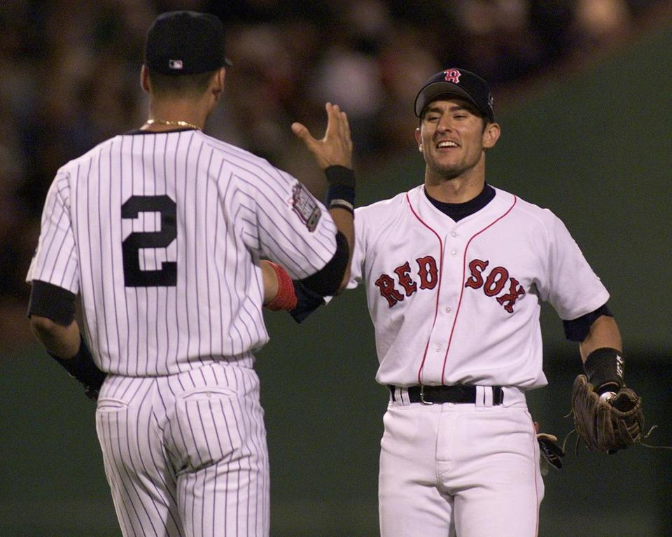 Nomar Garciaparra was a Red Sox fan favorite - and at the time a rival of Yankees shortstop Derek Jeter - bfore being traded away in 2004.