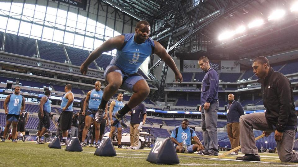 Mississippi State defensive lineman Fletcher Cox has elite size, strength, and speed.