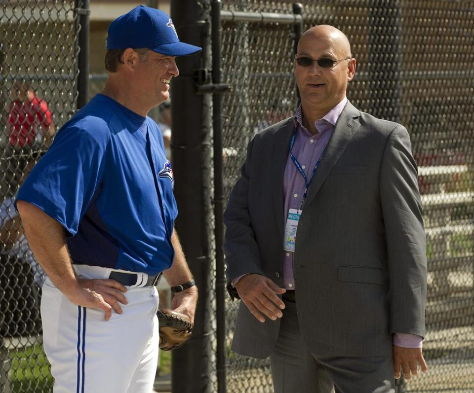 Terry Francona stopped by Blue Jays camp to chat with manager John Farrell in the ex-Red Sox manager's new role as an ESPN analyst.
