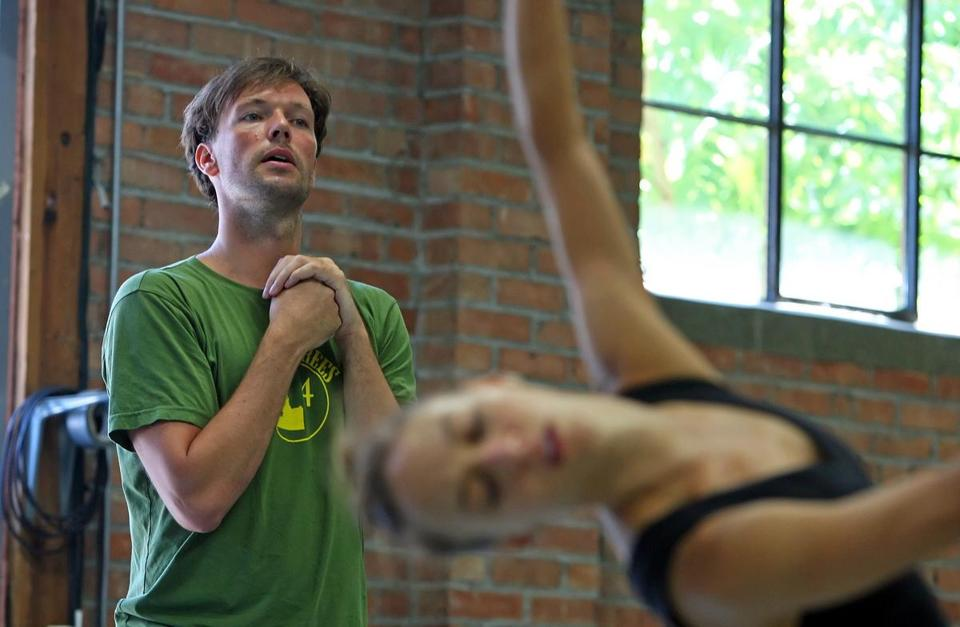 Choreographer Trey McIntyre at a rehearsal by his dance troupe at its home in Boise, Idaho.