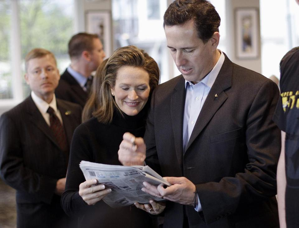 Rick Santorum, and his wife Karen, made a campaign stop in Ocean Springs, Miss., Monday.