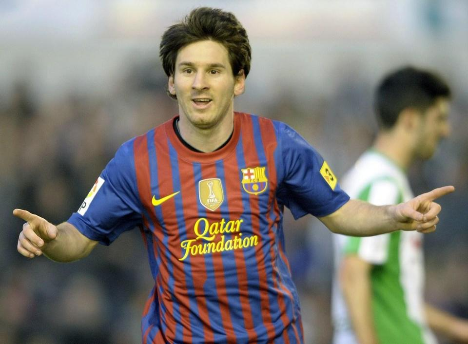 Lionel Messi followed up his five-goal game last week by scoring two more in Barcelona's win over Racing Santander