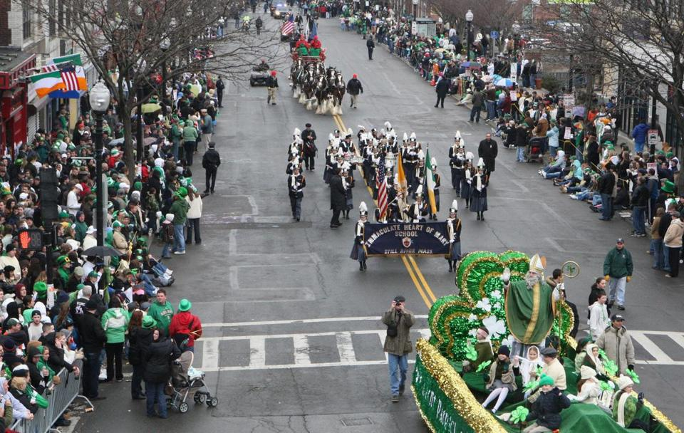 The annual St. Patrick's Day parade in South Boston is expected to draw about 500,000. Neighborhood residents often do not appreciate the excessive consumption of alcohol during the parade, police say.