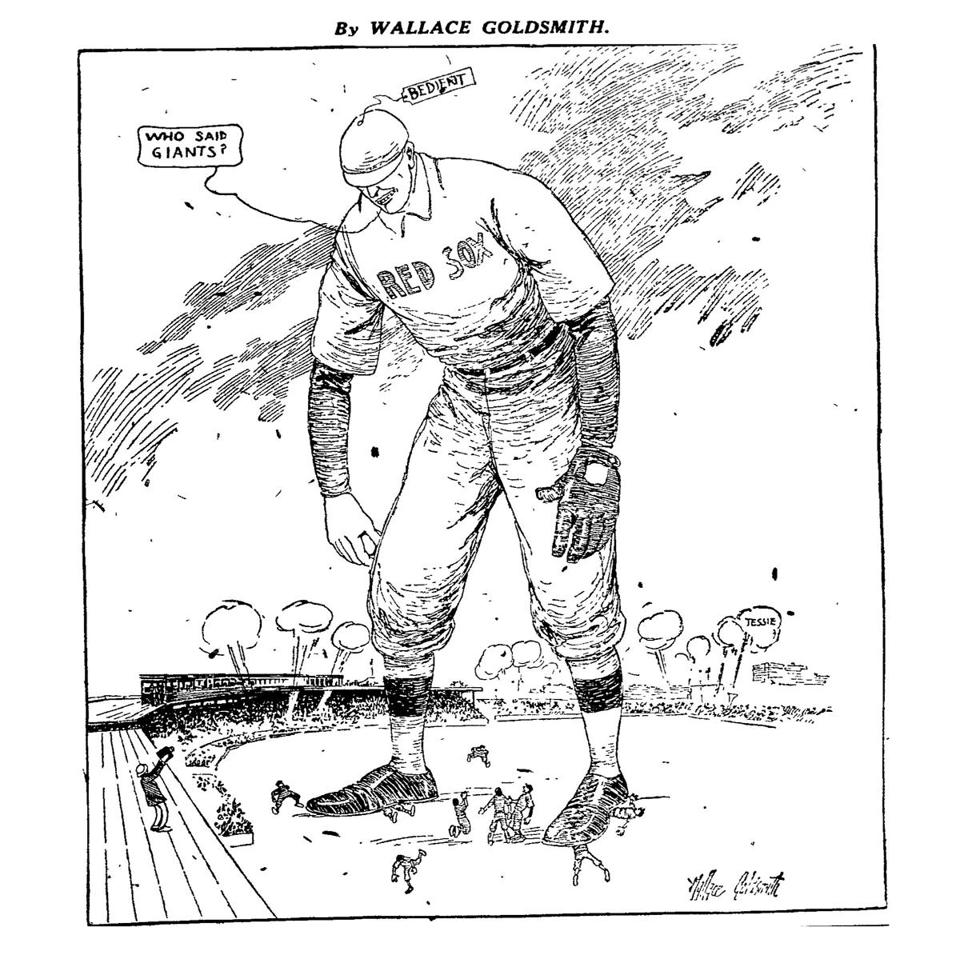This cartoon appeared on page one of the Boston Globe on Oct. 13, 1912.