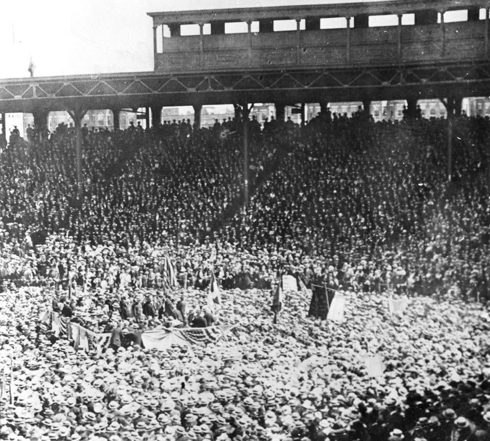 Eamon De Valera spoke to at Fenway Park crowd of about 50,000.